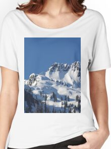 Beautiful Snowy Sunny Mountain Women's Relaxed Fit T-Shirt