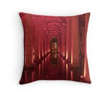Underground aquaduct Throw Pillow