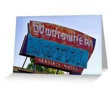 Motel Downtowner - Flagstaff - AZ Greeting Card