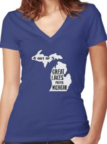 Prefer Michigan Women's Fitted V-Neck T-Shirt