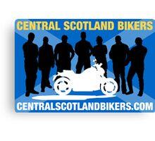 Central Scotland Bikers Canvas Print