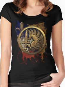 French Foreign Legion Para w Background Women's Fitted Scoop T-Shirt