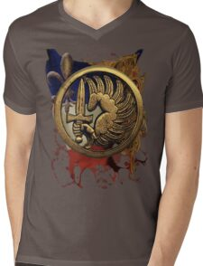 French Foreign Legion Para w Background Mens V-Neck T-Shirt