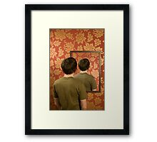 Magritte Mirror Framed Print