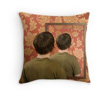 Magritte Mirror Throw Pillow