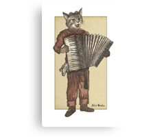 Accordion Cat with Goggles and Mask Canvas Print