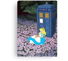 Alice & The Tardis Canvas Print