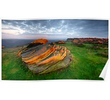 Stanage Edge dawn Poster