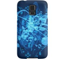 Blue Glow Music Notes Samsung Galaxy Case/Skin