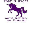 Purple Unicorn by arginal