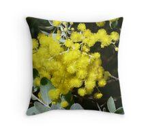 Wattle blossoms Throw Pillow
