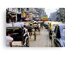 Peak hour, Calcutta 1980 Canvas Print
