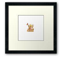 Kid King of Rock.  Framed Print