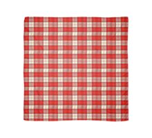 red and white tartan Scarf
