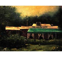 The Green Cafe Photographic Print