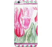 SOFT SHADES OF PINK - ADORABLE PINK TULIPS iPhone Case/Skin