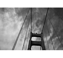 Golden Gate Black Photographic Print