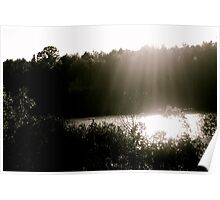 Light Peeping through the clouds Poster