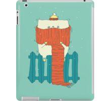 frozen cat, winter cat iPad Case/Skin