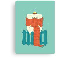 frozen cat, winter cat Canvas Print