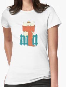 frozen cat, winter cat Womens Fitted T-Shirt