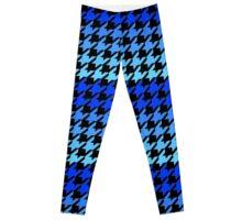 Blues houndstooth pattern Leggings