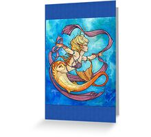 Mermaid Dancer Greeting Card