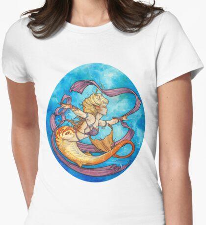 Mermaid Dancer Womens Fitted T-Shirt