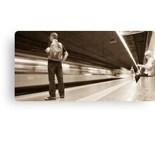 Waiting for the train in Spain Canvas Print