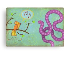 Sing me a song! Canvas Print