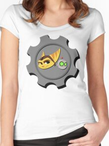 Ratchet and Clank - Gears of Frienship Women's Fitted Scoop T-Shirt