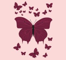 Pinky Butterfly Baby Tee