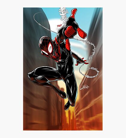 Miles Morales Ultimate Spiderman Photographic Print
