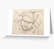 "Nero - graphite pencil on paper - 10"" x 11"" Greeting Card"