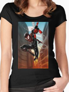 Miles Morales Ultimate Spiderman Women's Fitted Scoop T-Shirt