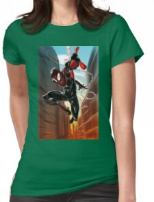 Miles Morales Ultimate Spiderman Womens Fitted T-Shirt