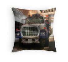 In the Old Bus Station Throw Pillow