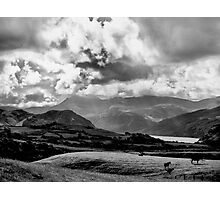 Ennerdale Water under a cloud..or three Photographic Print