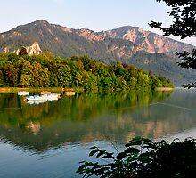 Tranquil Afternoon at Lake Kochelsee Germany by Daidalos