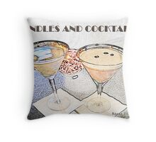 Candles and Cocktails Throw Pillow