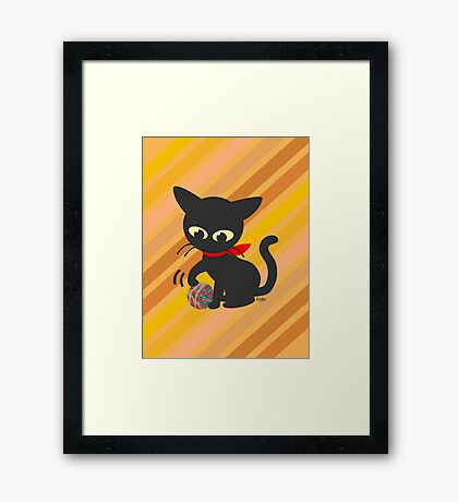 Playing with the ball Framed Print