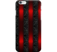 Red Ribbon Stripes iPhone Case/Skin