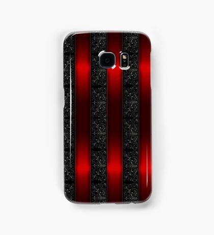 Red Ribbon Stripes Samsung Galaxy Case/Skin