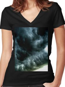 Storm Clouds Women's Fitted V-Neck T-Shirt