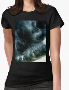 Storm Clouds Womens Fitted T-Shirt
