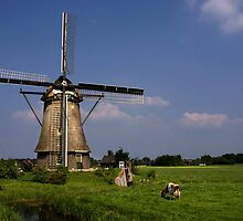 Dutch Windmill by AnnieSnel
