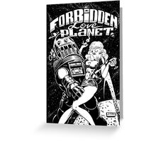 FORBIDDEN LOVE PLANET Greeting Card