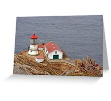At the edge - Point Reyes Lighthouse, CA Greeting Card