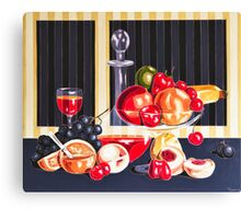 Still LIfe With The Garden Fruits Canvas Print