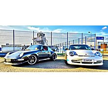 Porsche Old School v's New School Photographic Print